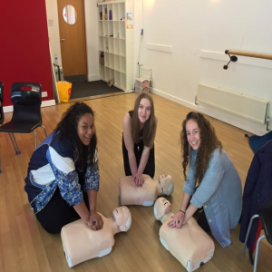 First aid training for a theatre group in Marlow