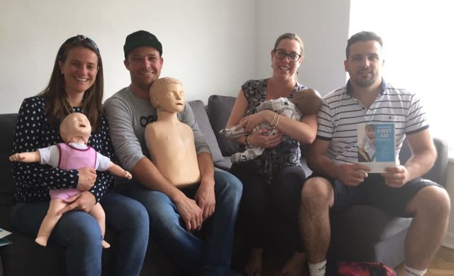 Baby first aid group photo